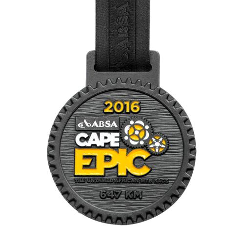 metal badge prestige custom made medals-cape epic 2016 medal