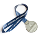 Metal Badge Medal Ribbons-Heat Slit Satin Ribbon