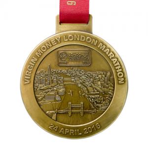 metal badge prestige custom made medals-virgin money london marathon 2016 medal