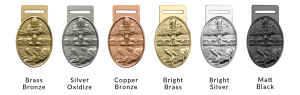 Metal Badge plating options - medals and trophies