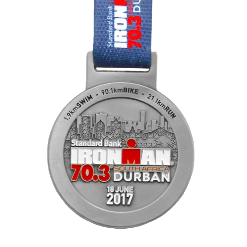 Metal-Badge-and-Button-Prestige-Medals-Durban-Iron-Man 2017 medal