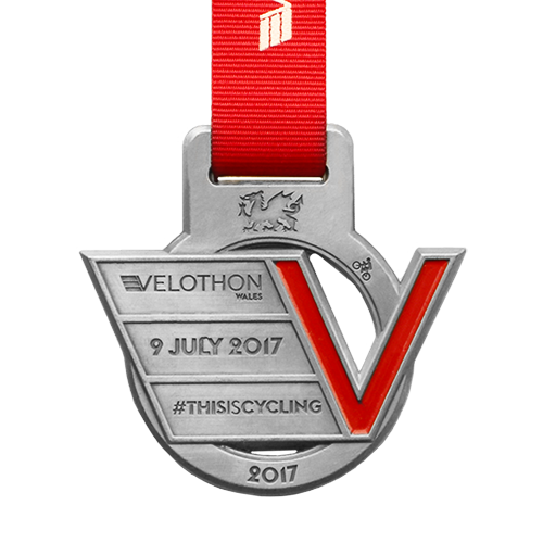 Metal-Badge-and-Button-Prestige-Medals-Velothon 2017 medal