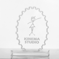Metal badge trophies-Perspex-Trophy