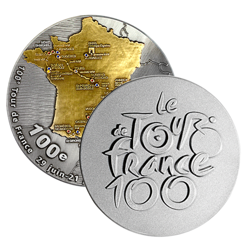 metal badge prestige custom made medals-tour de france medal