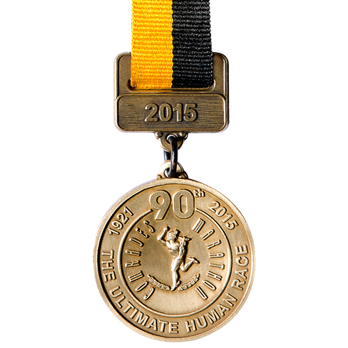 Metal badge custom made medals-the ultimate human race 2015 medal