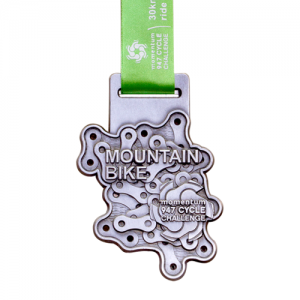 metal badge prestige custom made medals-mountain bike momentum 947 cycle challenge