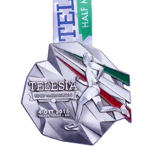 metal badge prestige custom made medals-telesia half marathon 2015 medal