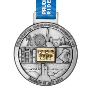 metal badge prestige custom made medals-ride london 2016 medal