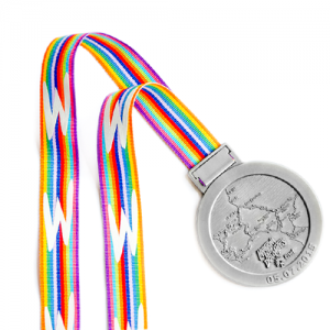 Metal Badge Medal Ribbons-Striped Petersham Ribbon