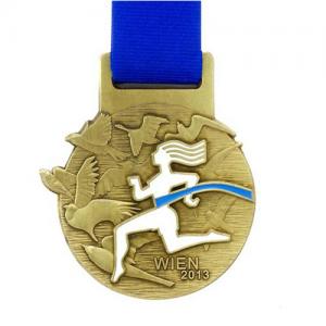 metal badge prestige custom made medals-WIEN 2013 medal