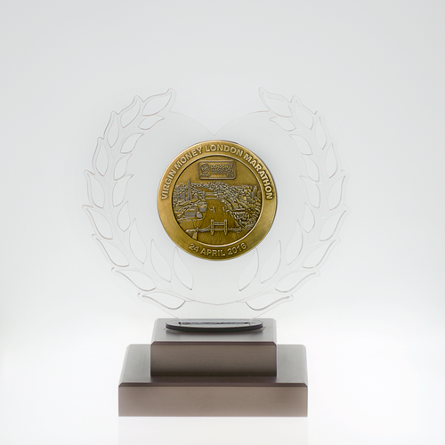 metal badge trophies-perspex trophy