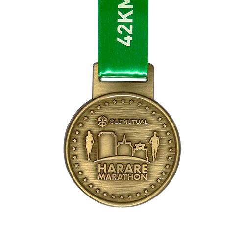 Metal-Badge-Prestige-Medals-Harare-Marathon medal