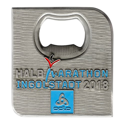 Metal Badge custom made medals-HALB marathon 2018 medal