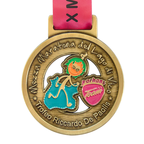 Metal Badge custom made medals-mezza maratona medal