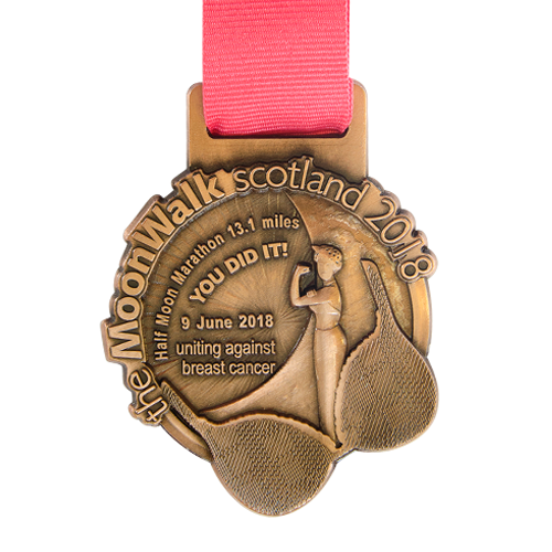 Metal Badge custom made medals-2018 oonwalk scotland medal