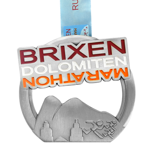 Metal Badge custom made medals-brixen dolomiten marathon medal