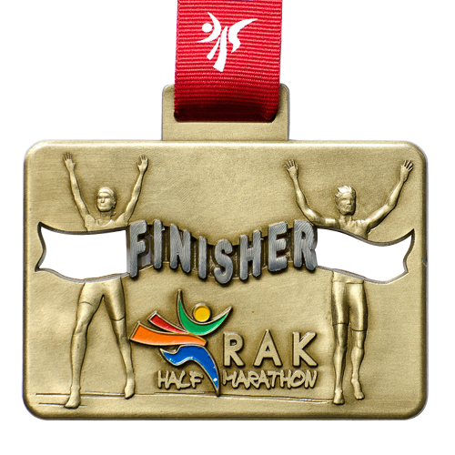 Metal Badge custom made medals-RAK half marathon medal