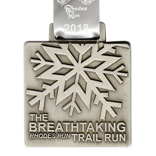 Metal Badge custom made medals-the breathtaking rhodes run medal