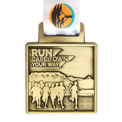 Metal Badge custom made medals-run cape town medal