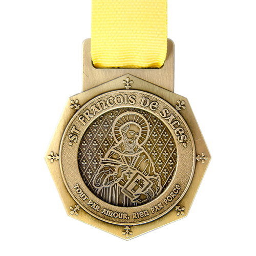 Metal Badge custom made medals-st francois de sales medal