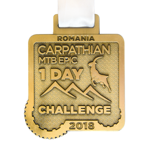 Metal Badge custom made medals-carpathian MTB epic challenge medal