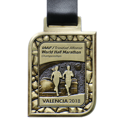 Metal Badge custom made medals-world half marathon 2018