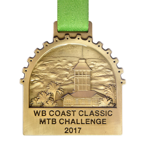 Metal Badge custom made medals-wb Coast Classic MTB challenge 2017 medal