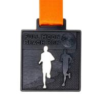 metal badge prestige custom made medals-full moon beach run medal