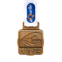 metal badge prestige custom made medals-midmar mile medal
