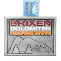 Metal Badge custom made medals-brixen dolomiten marathon medal