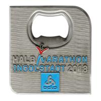 Metal Badge custom made medals-HALB marathon 2018 medal