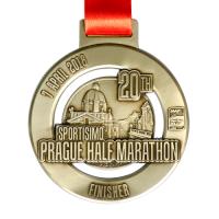 Metal Badge custom made medals-prague half marathon 2018 medal