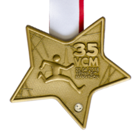 Metal Badge custom made medals-vienna city marathon 2018 medal