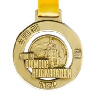 Metal Badge custom made medals-mattoni olomouc half marathon 2018 medal