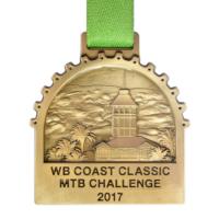 Metal Badge custom made medals-wb Coast Classic MTB challenge 2017 medal