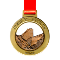 Metal Badge custom made medals-the great wall marathon 2018 medal